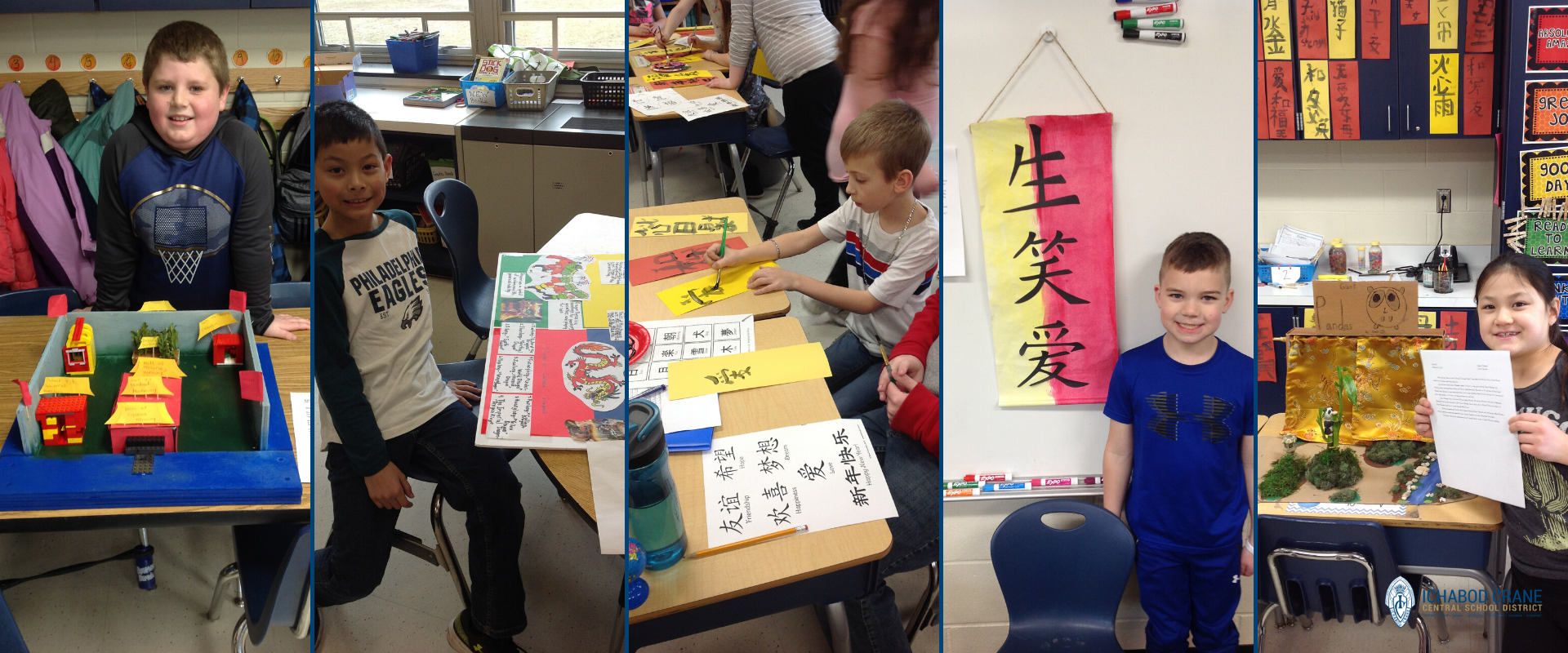 Primary students created China Museum exhibits.