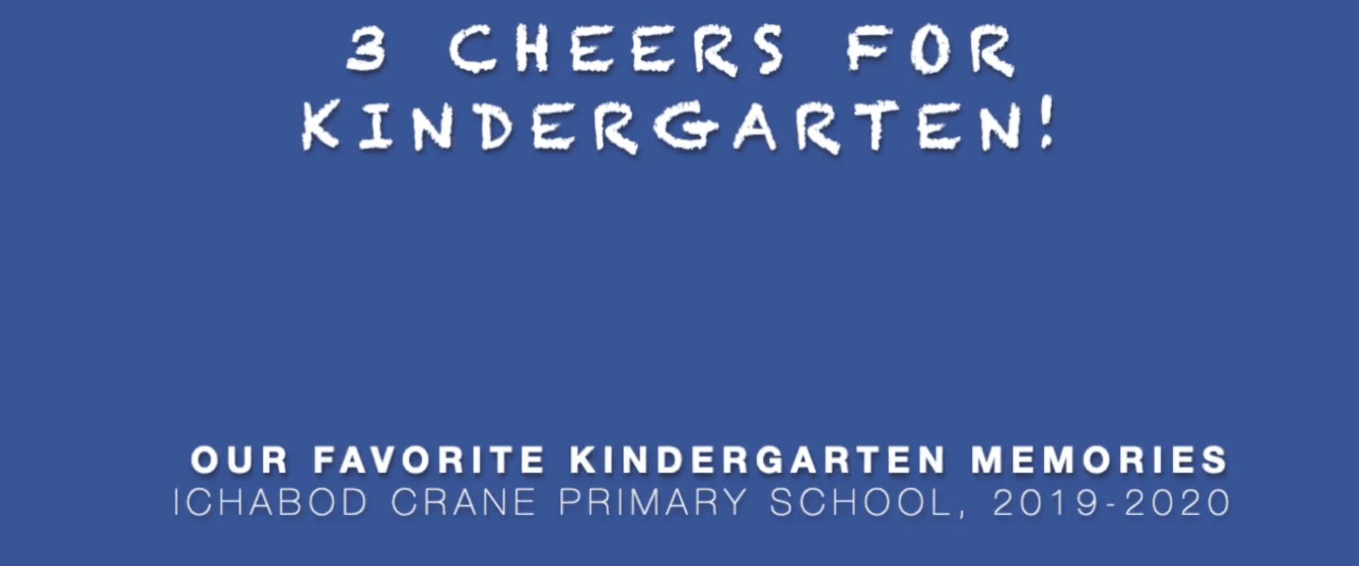 3 Cheers for Kindergarten