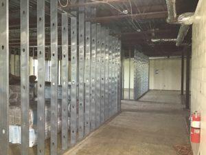 MS 100 Pod Corridor, Room 110 & 111 Framing