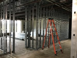 MS Room 109 Wall Framing