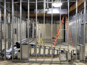 MS 100 Wing Classrooms HVAC Work Beginning