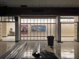 MS Cafeteria Being Framed