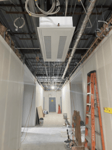 MS 100 Wing Corridor with Cabinet Heating Installed