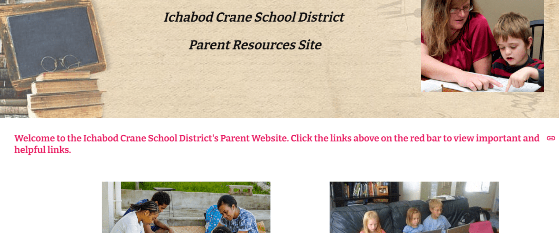 Parent Resources Website for Hyrbrid and Remote Learning