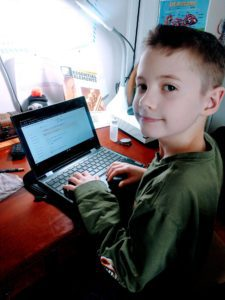 Student Using District Technology